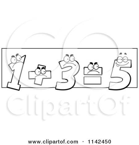 Black and white bertjanda. Addition clipart cartoon
