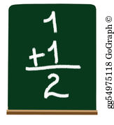Addition clipart chalkboard. Stock illustrations gg primary