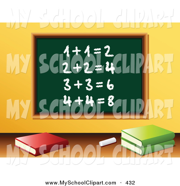 Clip art of a. Addition clipart chalkboard