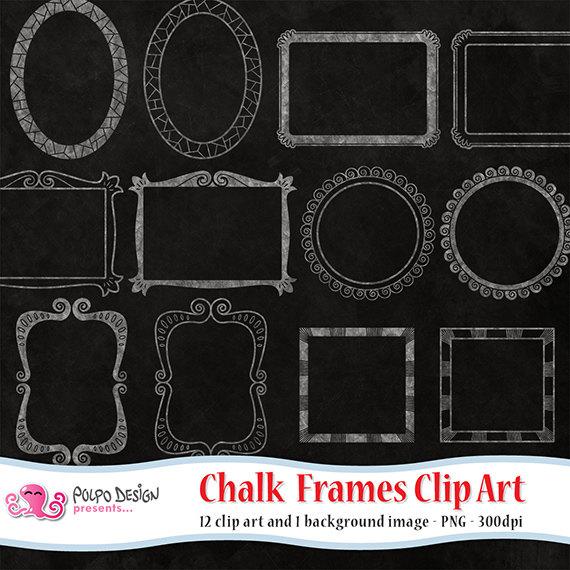 Addition clipart chalkboard. Frames digital clip art