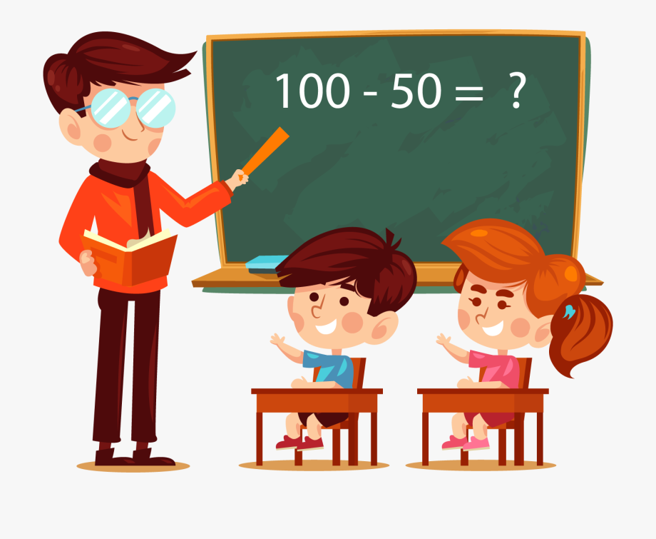 Learning addition classroom and. Clipart teacher student
