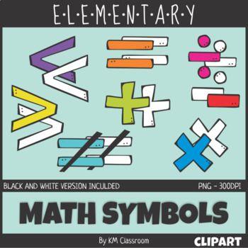 Symbols clip art km. Addition clipart elementary math