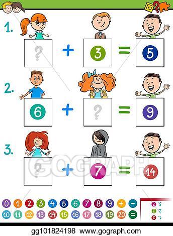 Eps illustration maths educational. Addition clipart elementary math