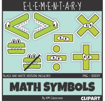 Symbols clip art crocodile. Addition clipart elementary math