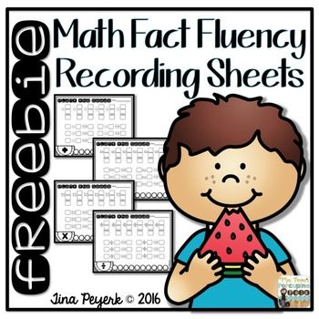 Math recording sheets freebie. Addition clipart fact fluency