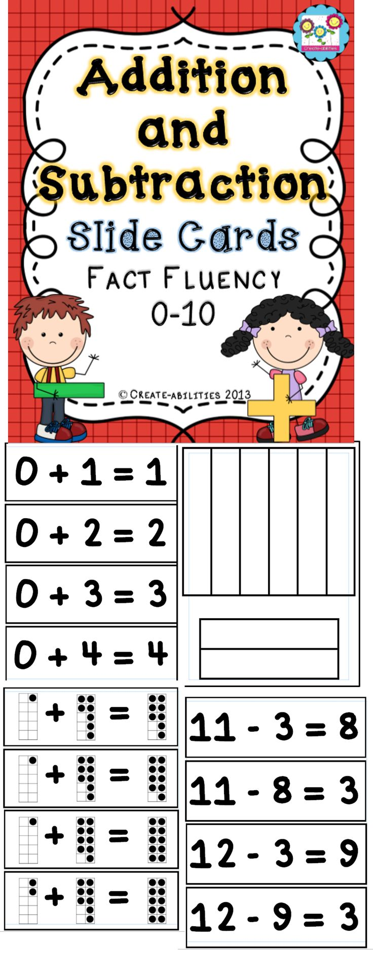 Addition clipart fact fluency.  best math images