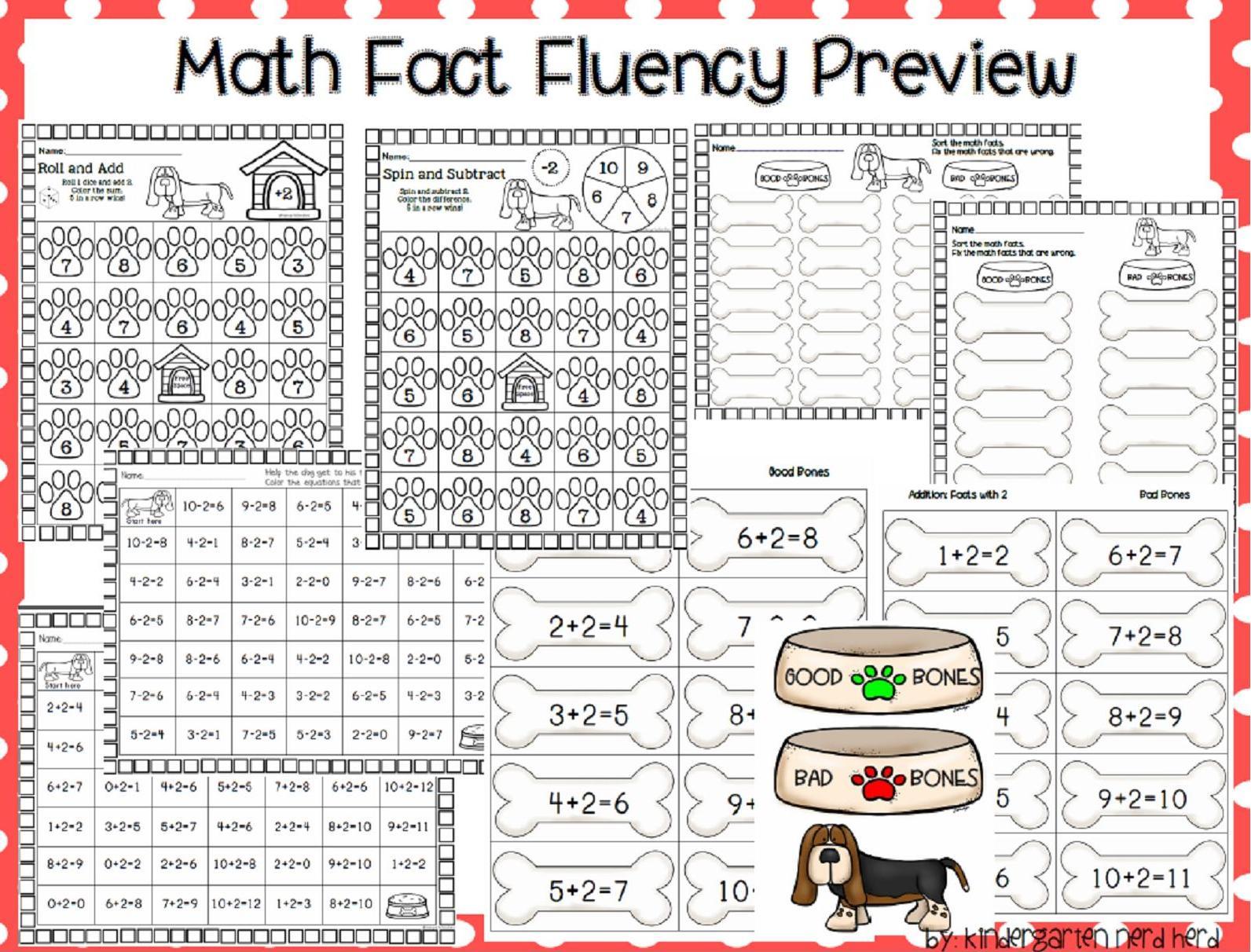 Kindergarten nerd herd math. Addition clipart fact fluency