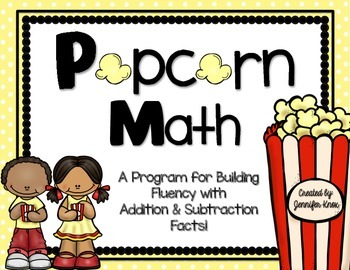Popcorn math subtraction by. Addition clipart fact fluency