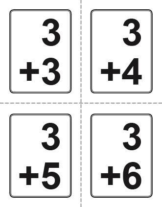 Flash cards incep imagine. Addition clipart flashcard