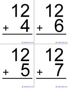 Addition clipart flashcard. Kindergarten math panda free
