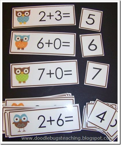Great idea for math. Addition clipart flashcard