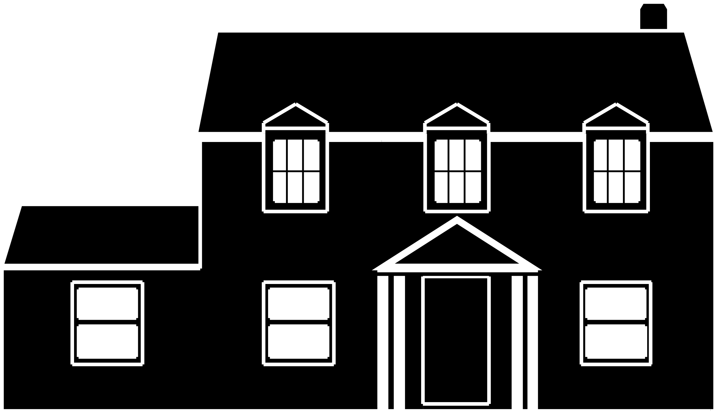 Home clipart rat. Black and white house