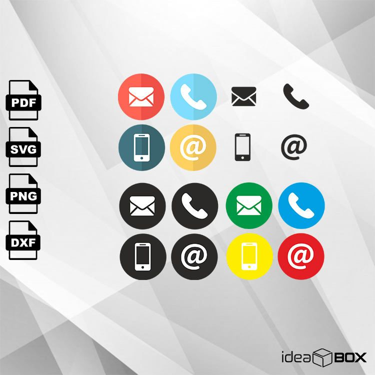 Addition clipart icon. Contact icons bundle svg