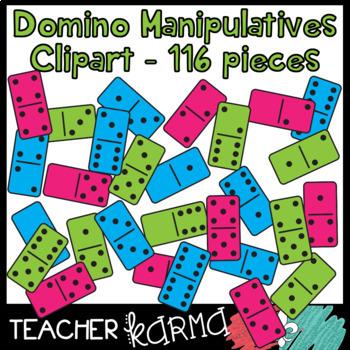 Addition clipart math manipulative. Domino manipulatives pcs by