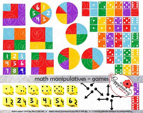 Addition clipart math manipulative. Manipulatives games set dpi
