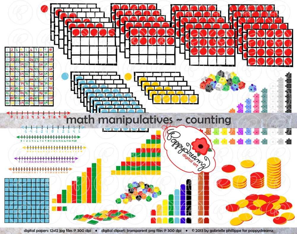 Manipulatives counting mega bundle. Addition clipart math manipulative