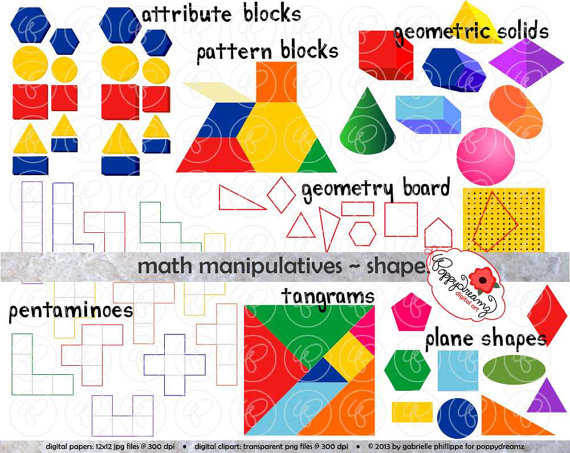Manipulatives shapes set dpi. Addition clipart math manipulative