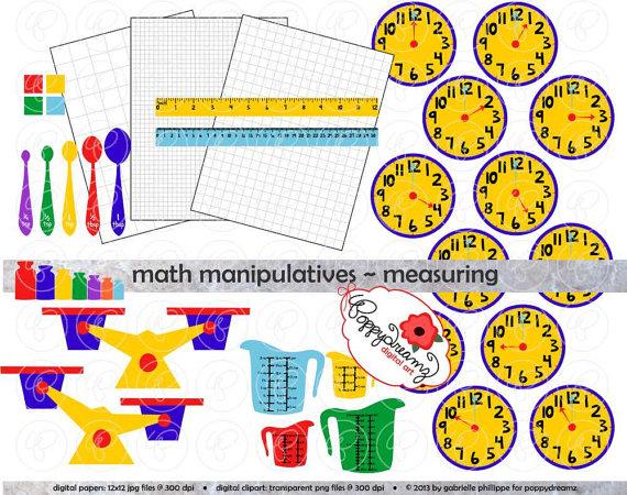Addition clipart math manipulative. Manipulatives measuring mega set