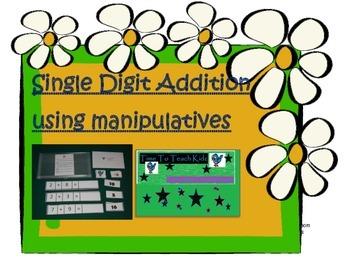 Addition clipart math manipulative. Single digit using manipulatives