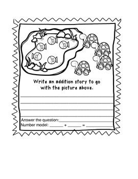 Practice animal storybook . Addition clipart math word problem