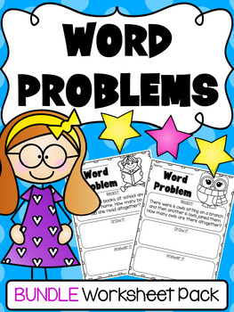 Subtraction worksheets kindergarten and. Addition clipart math word problem