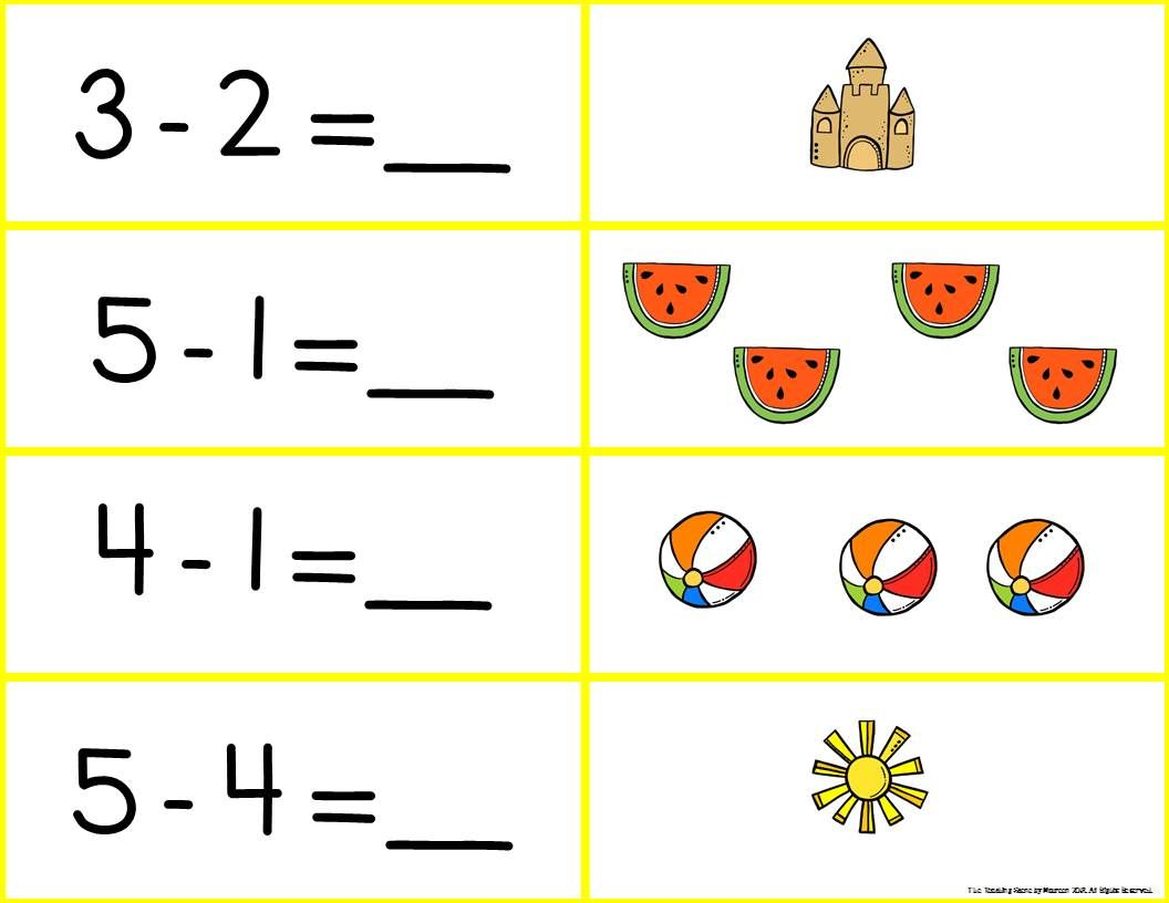 Subtraction seasonal match math. Addition clipart number sentence
