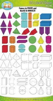 Addition clipart shape. These d shapes or
