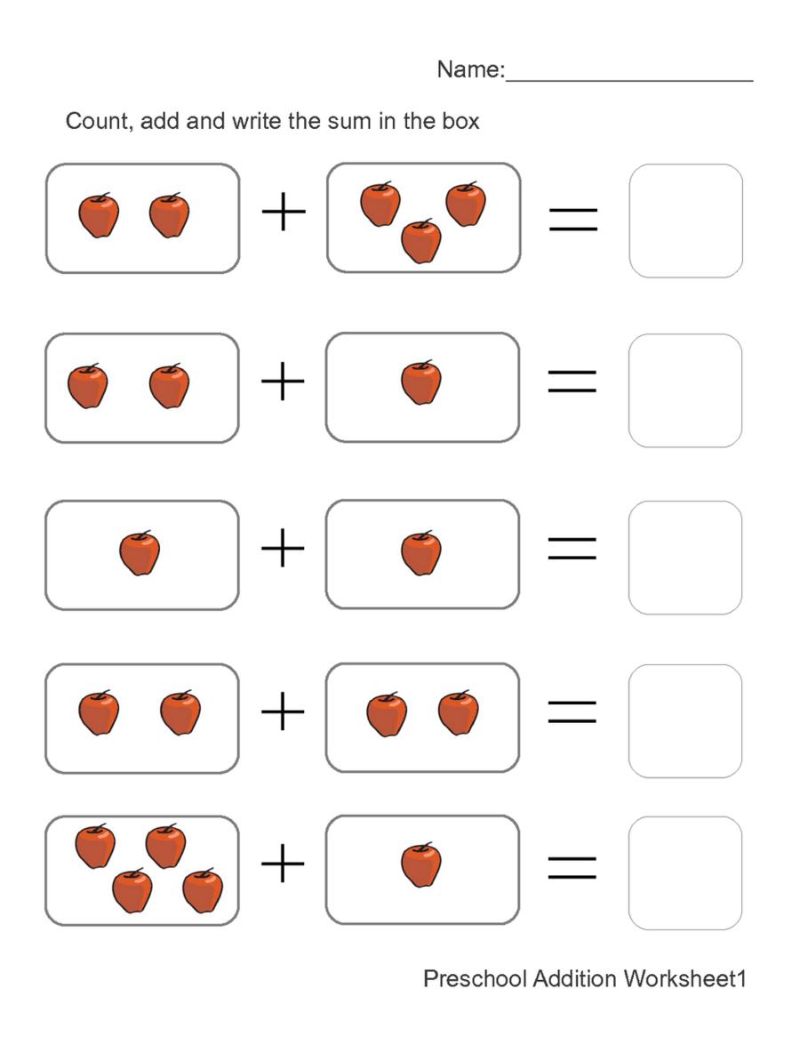 Addition clipart simple addition. Math background kindergarten number