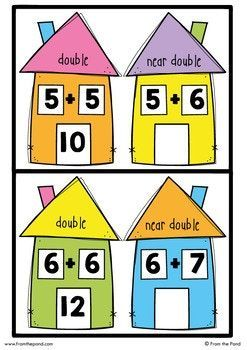 Near doubles activity double. Addition clipart simple addition