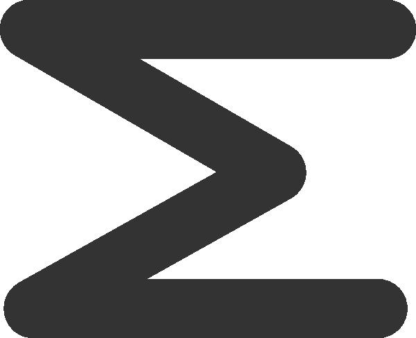 Addition clipart sum. Sigma symbol clip art
