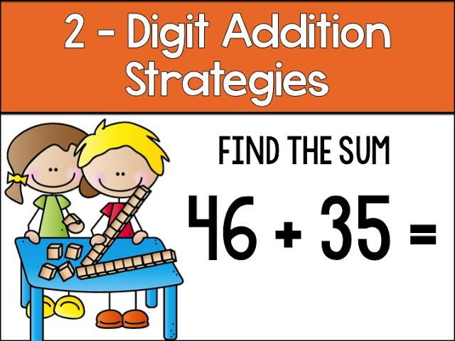 Addition clipart two digit addition. Teaching strategies who s