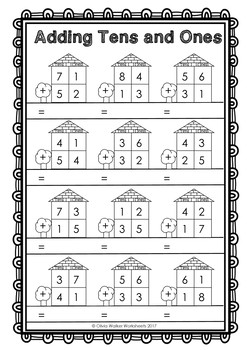 Addition clipart two digit addition. Double no regrouping worksheets