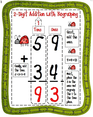 with regrouping anchor. Addition clipart two digit addition