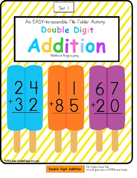 Addition clipart two digit addition. Double without regrouping color