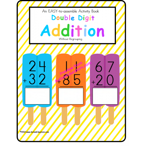 Addition clipart two digit addition. Double activity book task