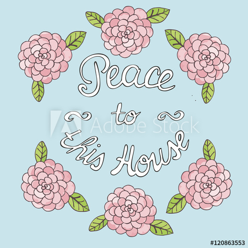 Lettering peace to this. Adobe clipart bible house