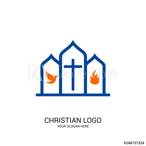 Adobe clipart bible house. Christian church logo symbols