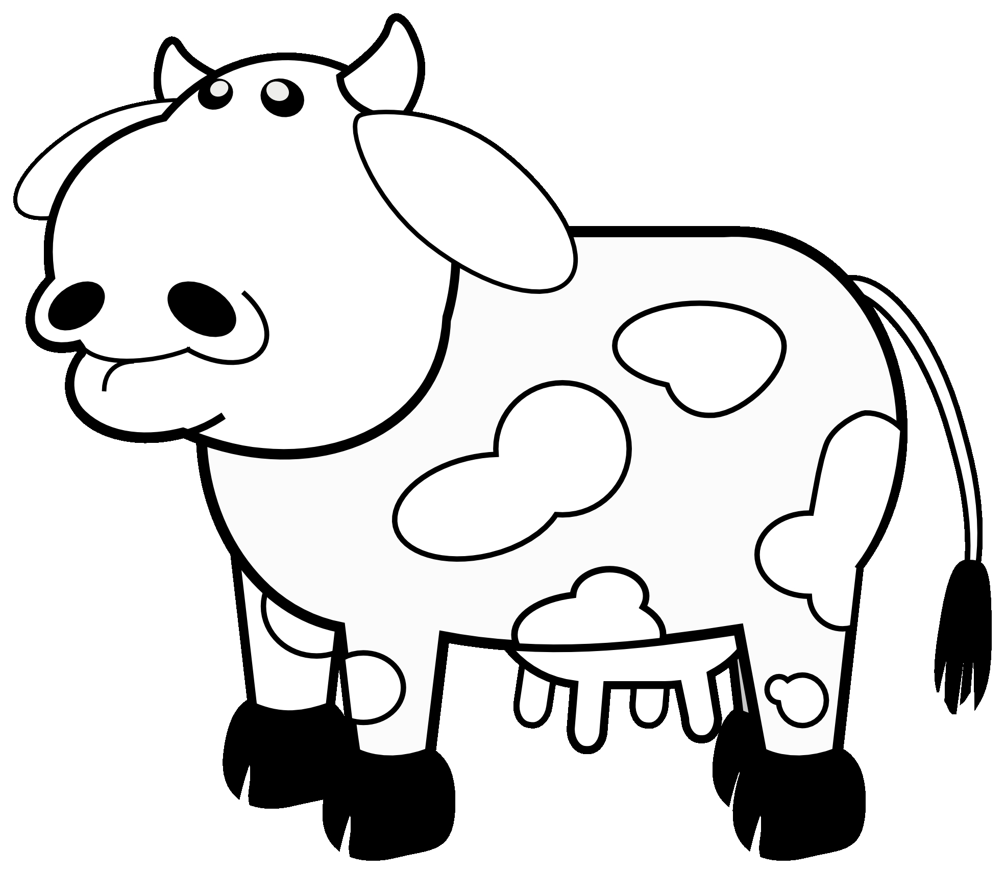 Cattle clipart black and white. Fresh cow design digital