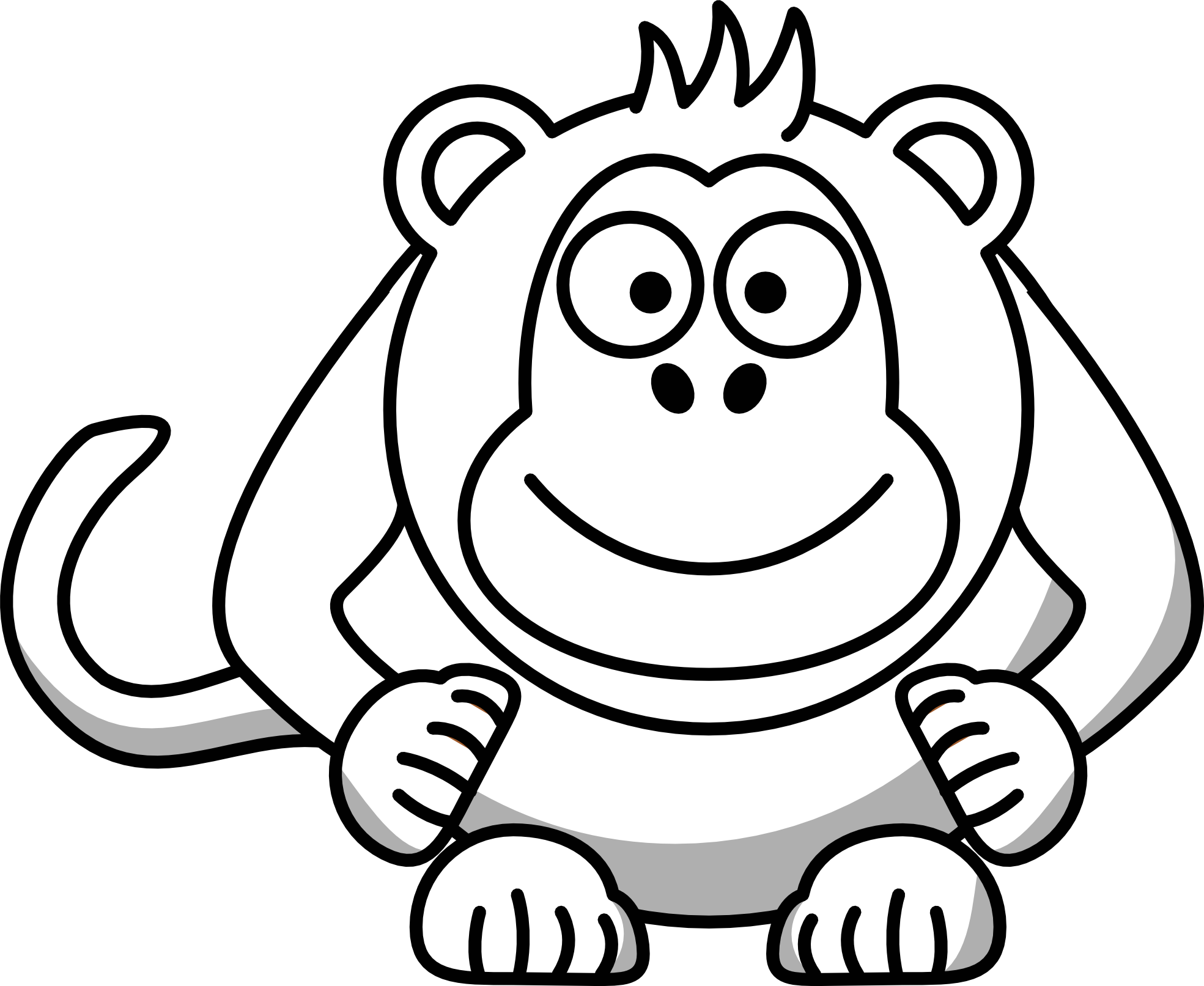 Black and white . Number 1 clipart cartoon