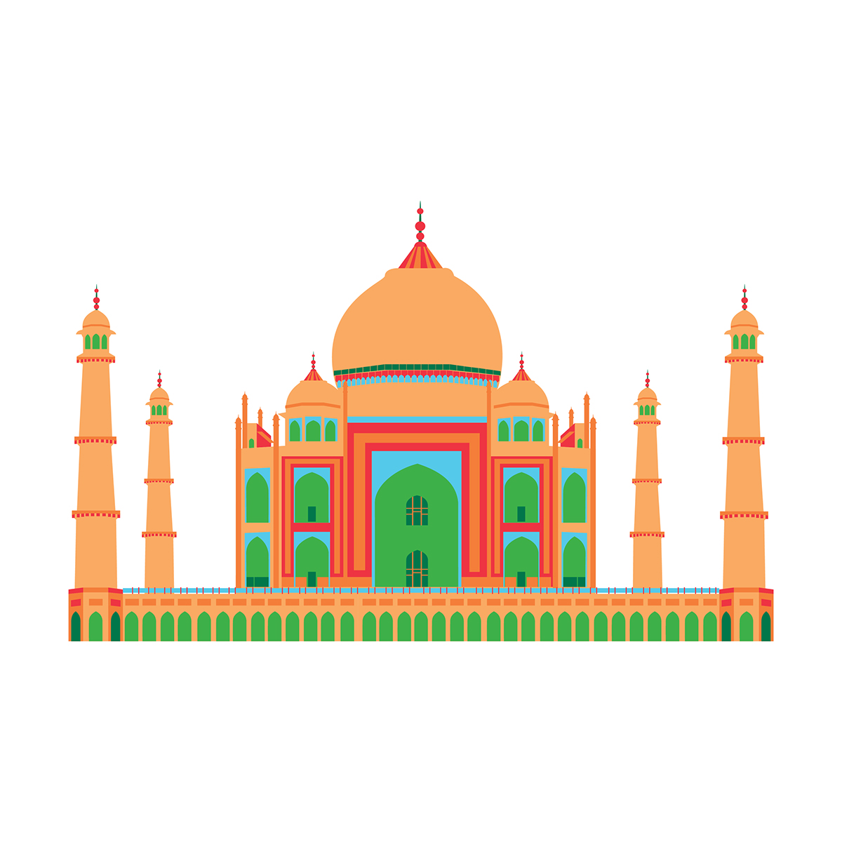 Adobe clipart building indian. Monuments of india on