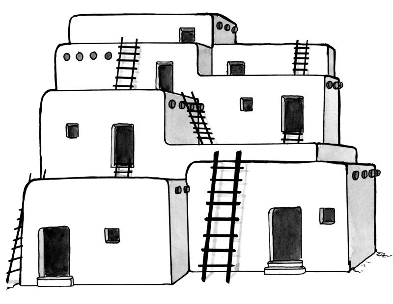 Jennifer k keller illustrations. Adobe clipart building indian
