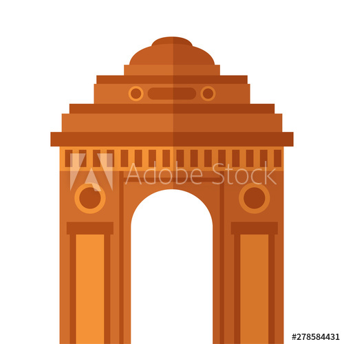 Gateway independence day icon. Adobe clipart building indian