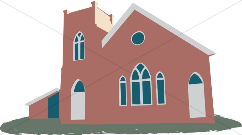 With gabled windows. Adobe clipart church mission