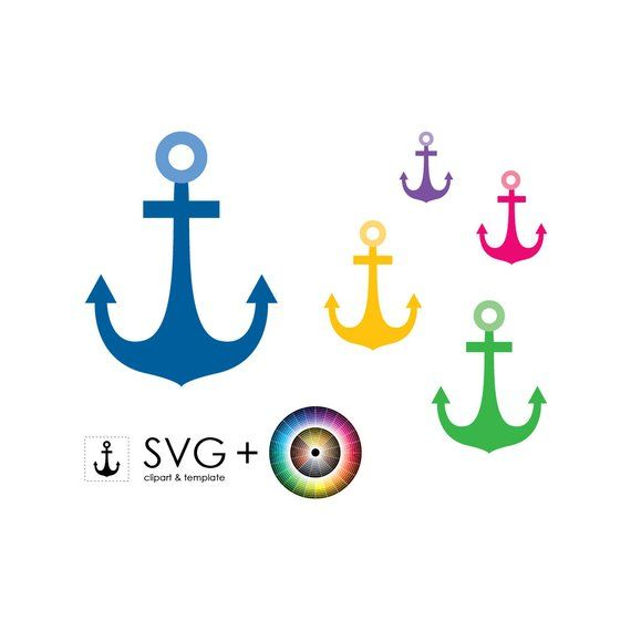 Svg object template graphic. Clipart anchor craft