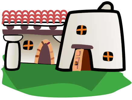 Adobe clipart dwelling. Free house pages of