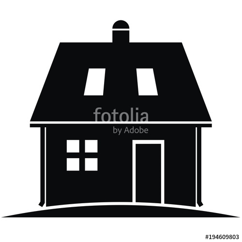 Adobe clipart dwelling. House with eaves and