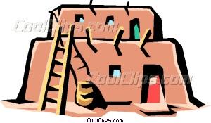 Pueblo vector clip art. Adobe clipart dwelling