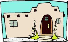 Pueblo sun house x. Adobe clipart dwelling