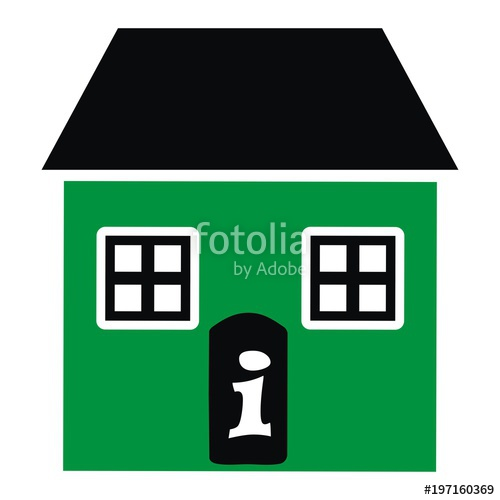 Big and little house. Adobe clipart dwelling