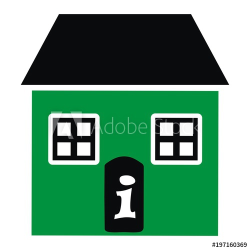 Adobe clipart dwelling. Green house information office